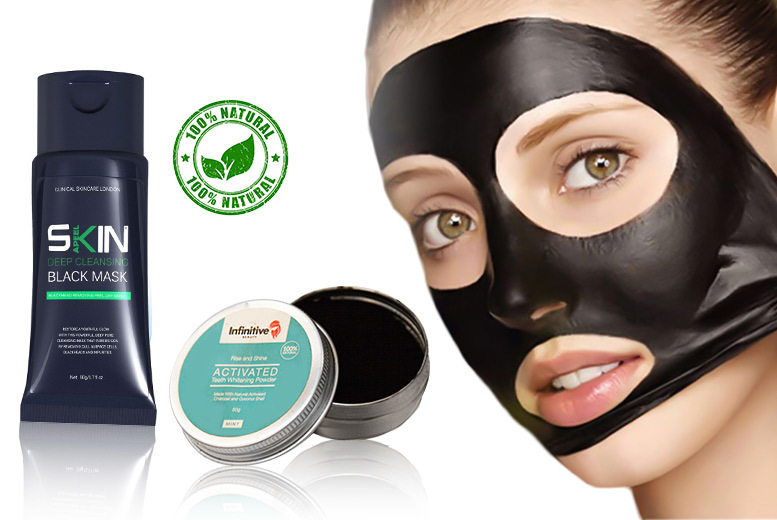 £6 instead of £56.99 (from Forever Cosmetics) for a blackhead face mask and charcoal teeth whitening powder - save 89%