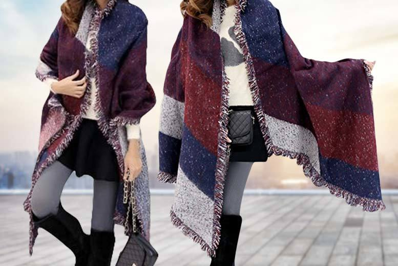 £9 instead of up to £47 (from Boni Caro) for an oversized blanket scarf - save 81%