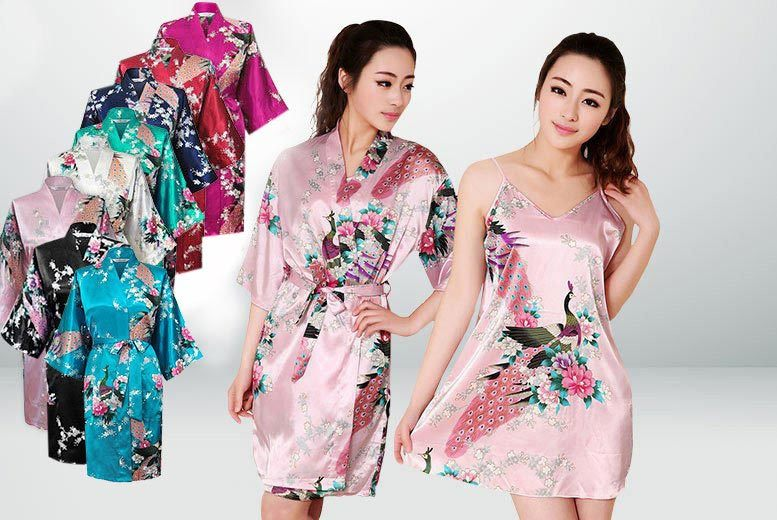 £14 instead of £49.99 (from Trifolium) for a kimono robe and nightie set - take your pick from one of eight gorgeous colours and save 72%