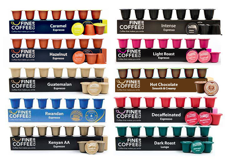 £10.99 instead of £22.90 (from Fine Coffee Club) for 100 Nespresso-compatible capsules - get 10 fragrant flavours and save 52%