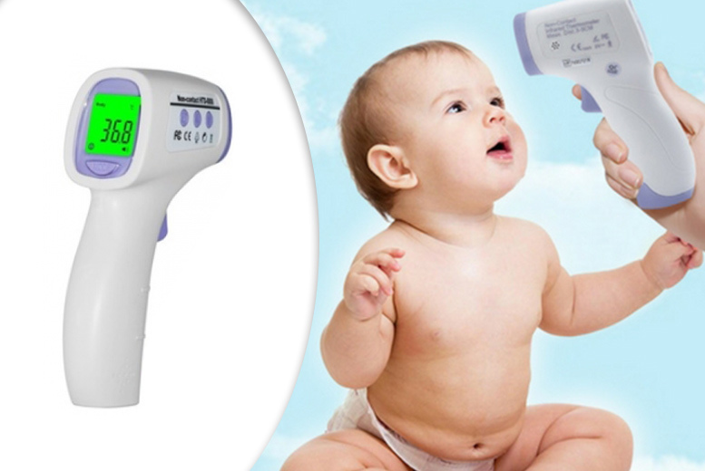 £9.99 instead of £39.50 (from Home Lounge) for a contactless digital baby thermometer - save 75%