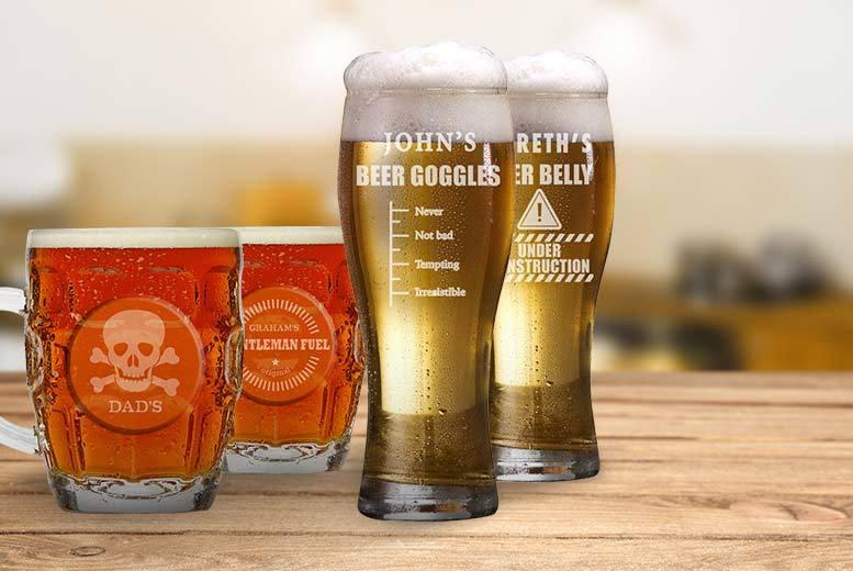 Personalised Engraved Beer Glass