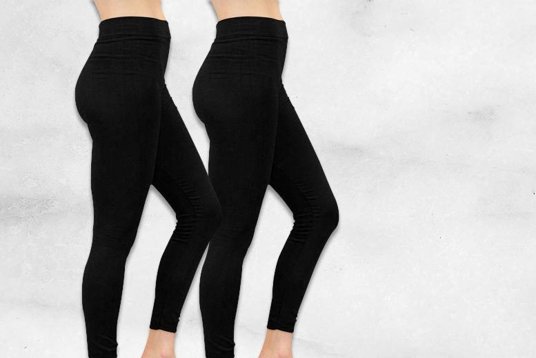 £6 instead of £26.99 (from Nothing New 2 Wear) for two pairs of black fleece-lined leggings - save 78%