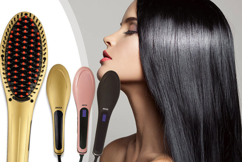 £19 instead of £87.99 (from Meadow Vale) for a black or pink Jocca hair straightening brush or £24 for a gold brush - save up to 78%