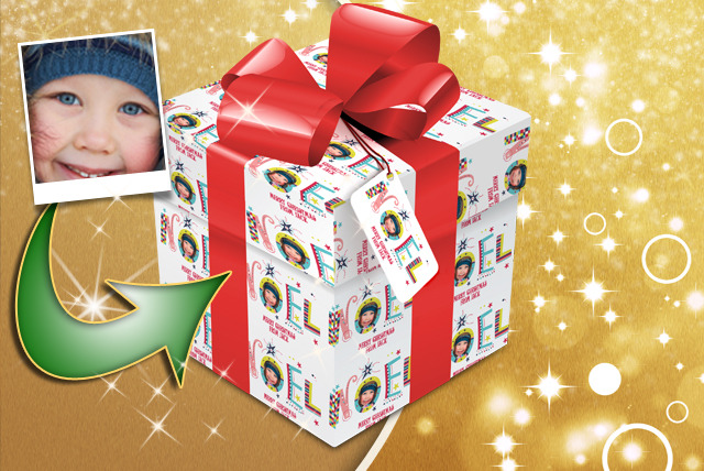 £4.99 instead of £8.99 (from Advanced Photoprint) for 12 sheets of personalised wrapping paper with tags - save 44%