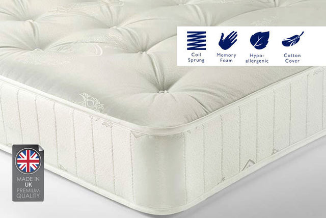 Sleep Sweet Soft-touch Memory Foam Sprung Mattress