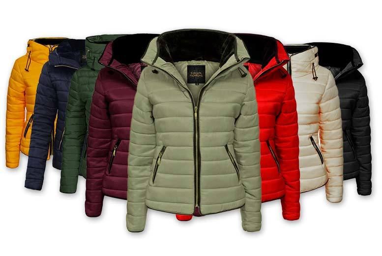 Women's Fur Collar Padded Quilted Jacket - 7 Colours!