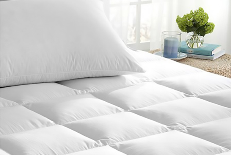All-Season Reversible Velvet Mattress Enhancer