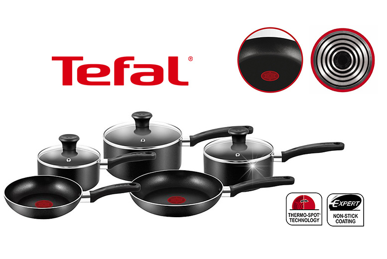 £29.99 instead of £92 (from Elite Housewares) for a five-piece Tefal non-stick cookware set - save 67%