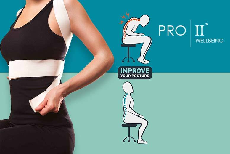 £4.99 instead of £38 (from Pro II Wellbeing) for a magnetic back and posture corrector - save 87%