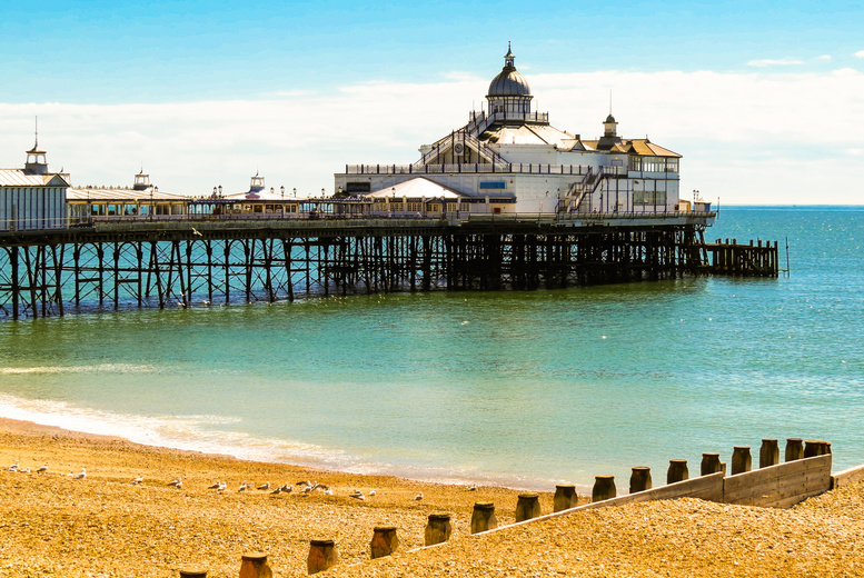 From £59 (from Britannia Hotels) for an overnight Eastbourne stay for two including breakfast, for £75 upgrade for dinner and wine, or make it a two-night stay from £139