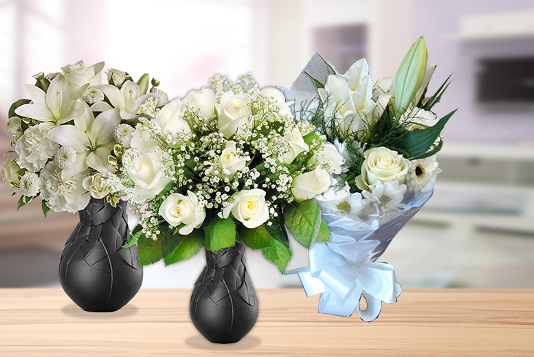 £19.99 instead of £49.99 (from Posy Bouquets) for a choice of 3 white bouquets - say you care this Valentine's & save 60%