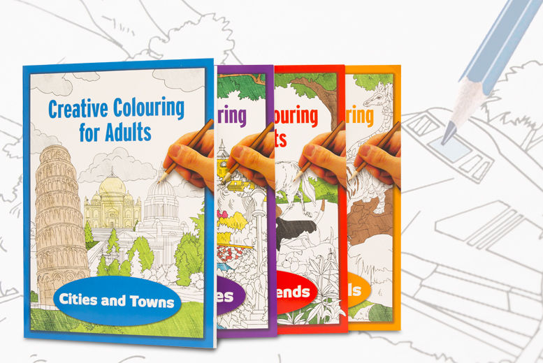 £2.99 instead of £9.99 for two creative colouring books for adults from Ckent Ltd - save 70%