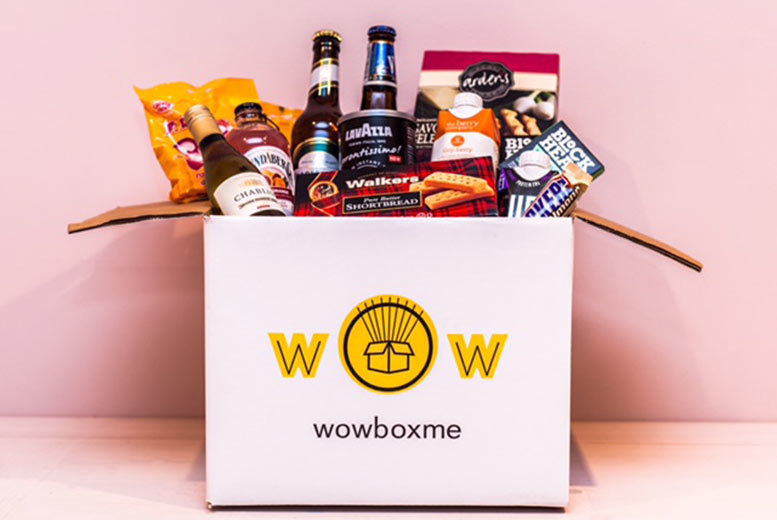 £4 for a non-alcoholic surprise snack box or £6 for for an alcoholic surprise snack box from WowBoxMe