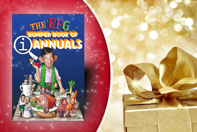 £6.50 instead of £12.99 (from Faber and Faber) for the Bumper Book of QI Annuals - get giggling and save 50%