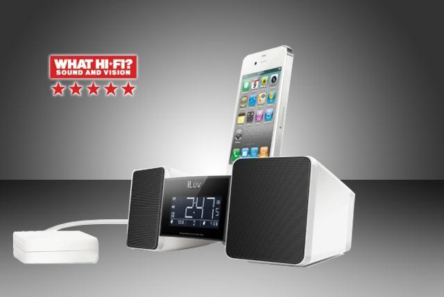 £35 instead of £69.99 for an iLuv IMM155 Digital Alarm Clock Dock from Wowcher Stores - wake up to your iPhone or iPod & save 50%