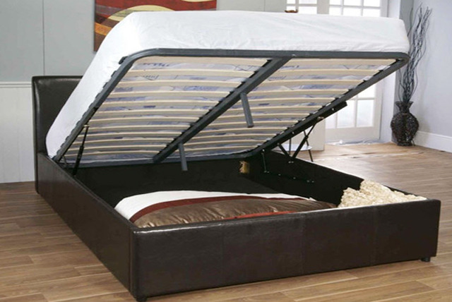 Collect 17,900 Club Wowcher points when you buy this deal - Faux Leather Ottoman Storage Bed