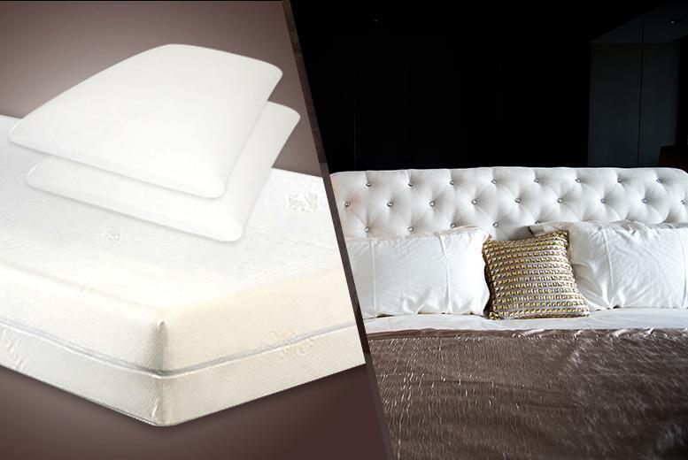 £109 for a single memory foam mattress & 1 pillow, £139 for a small double & 2 pillows, £159 for double or £179 for king - save up to 73%