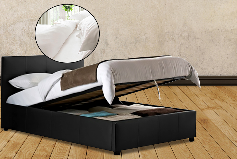 £269 instead of £799 (from Fishoom) for a double ottoman storage bed with a memory foam mattress and bedding set, £289 for king size - save up to 66%