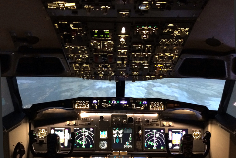 £59 instead of £89 for a one-hour Boeing 737  flight simulator experience with Flightdeck Simulator, Beighton - save 34%
