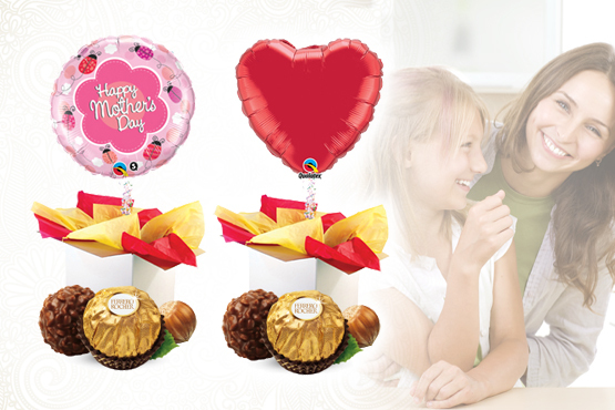£9.95 instead of £27.45 for a Mother's Day helium balloon in a box and chocolates - say 'thanks Mum' a different way and save 64%