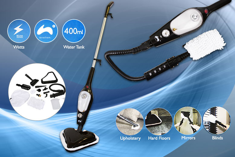 £23.99 instead of £79.99 (from 4 Your Home UK) for a 1500w 13-in-1 steam mop - save 70%
