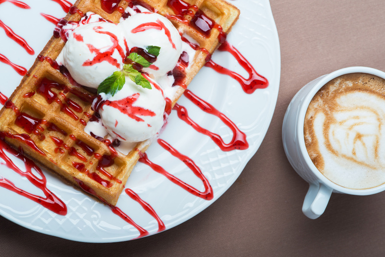 £8 instead of £16.40 for a Belgium waffle with two scoops of Italian gelato, toppings and hot drink for two at Oddono's Gelati Italiani - save 51%