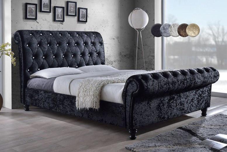 Chesterfield Crushed Velvet Bed Frame