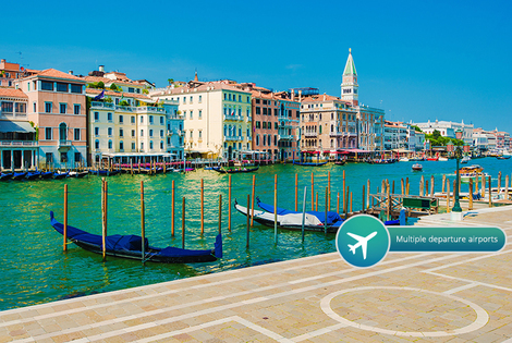 From £99pp (from Crystal Travel) for a two-night 4* Venice break including breakfast, flights and gondola ride, from £159pp for three nights - save up to 52%