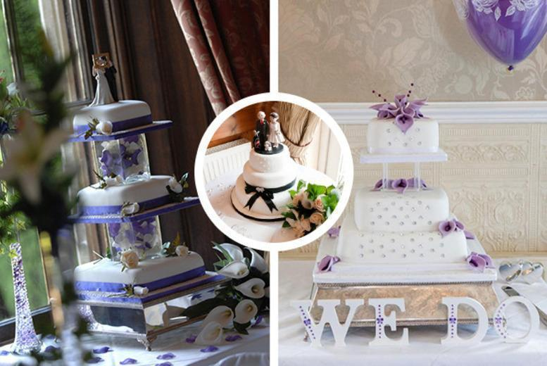 £250 instead of up to £475 for a 4-tier luxury bespoke wedding cake from Wedding Cakes Leeds - save up to 47%