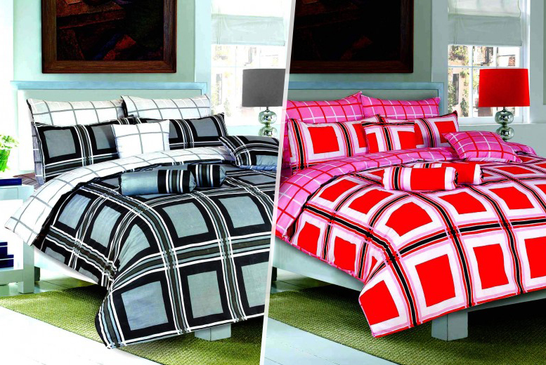 £10 (from Your Essential Store) for a single Boston duvet set, £12 for a double set, £14 for king size - save up to 75%