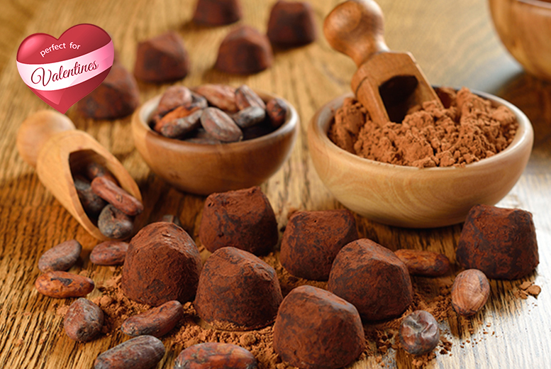 £28 for a 2-hour Valentine's Day chocolate truffle making course for 1 including a chocolate Martini, or £54 for 2 - save up to 53%