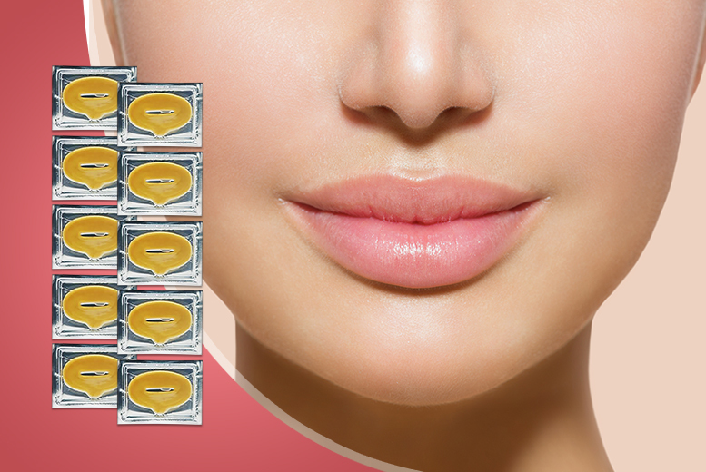 £4 instead of £49.99 (from Beautyfit) for 10 gold collagen lip masks, £7 for 20 - save up to a juicy 92%