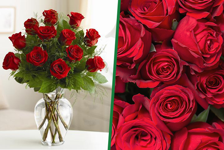 £27.50 instead of £65 for a designer bouquet inc. a dozen long stem red roses & Valentine's delivery* from Fredericks of London, Chelmsford - save 58%