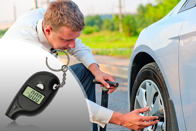 £5 instead of £19.99 (from Emyub) for a keyring digital tyre pressure gauge, £8 for two - save up to 75%