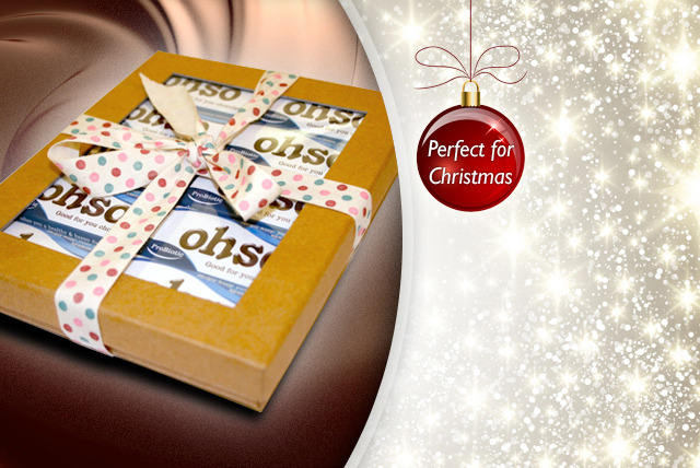£9 instead of £16.99 (from Win Naturally) for an Ohso ProBiotic chocolate gift pack - treat someone special and save 47%