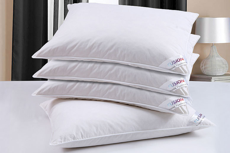 £9.99 instead of £79.99 (from Fusion Online) for two goose feather and down pillows - save 88%