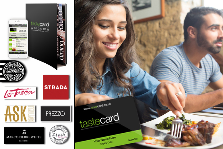 £35 instead of £79.99 (from tastecard) for a 12-month tastecard that  gives you 50% off or 2-for-1 deals at 7000+ restaurants in UK and Ireland - save 56%