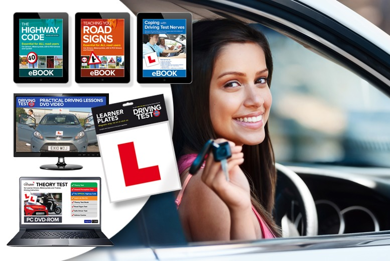 £9.99 instead of £41.85 (from eOutlet) for an 'Ultimate Learner Driver Kit' inc. theory test, highway code, L plates & more - save 76%