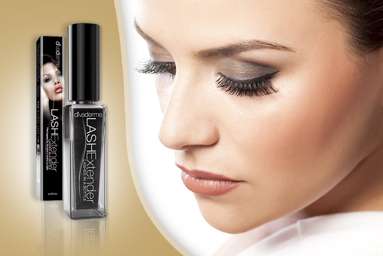£6.99 instead of £44.99 (from My Perfume Room) for a bottle of Divaderme black lash extender – flutter those lashes & save 84%