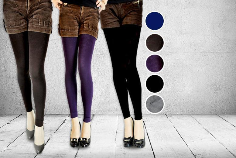 £8 instead of £49.99 (from Beautyfit) for two pairs of fleece-lined leggings in a choice of colours - stay snug and save 84%