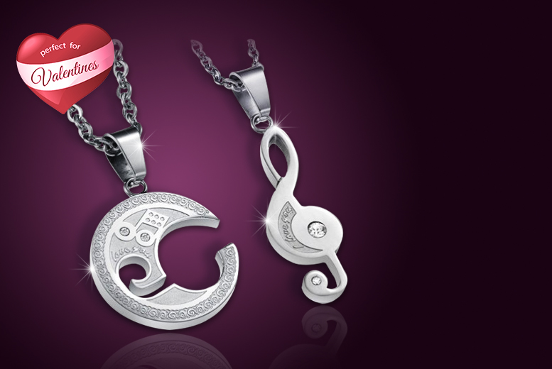£10 instead of £68 (from Evoked Design) for a couple's necklace set - save 85%