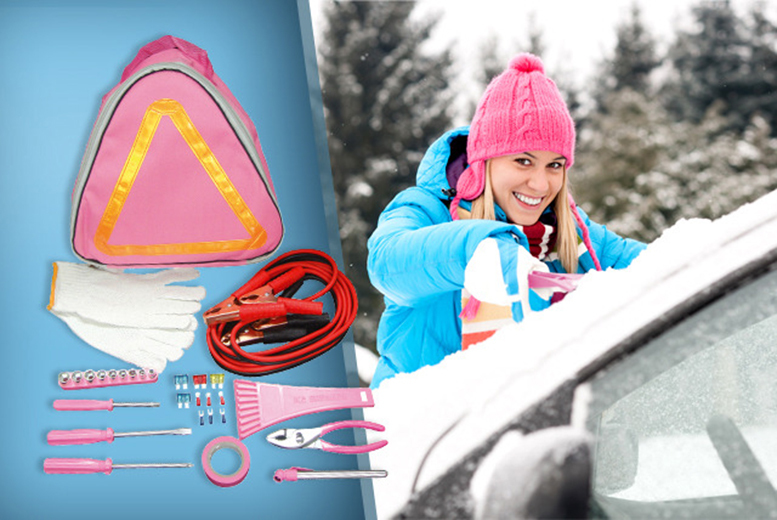 £9 for a 30-piece emergency car kit to help you and your car survive the winter!