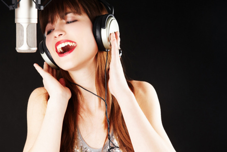 £29 for a studio voice recording experience inc. CD to take home, £99 to inc. a photoshoot and music video at British MusicMaker, Birmingham - save up to 71%
