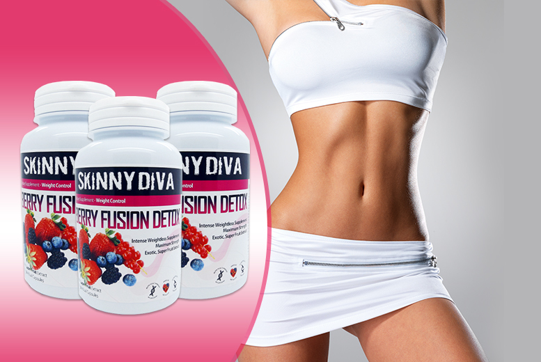 £12 (from Skinny Diva) for a 1-month* supply of 'Berry Fusion Detox' capsules, £24 for a 3-month* supply - save up to 70% + DELIVERY INCLUDED