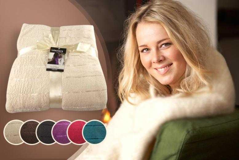 £6.99 instead of £29.99 (from Groundlevel.co.uk) for a satin striped fleece throw, £12.99 for two - choose from 6 colours & save up to 77%