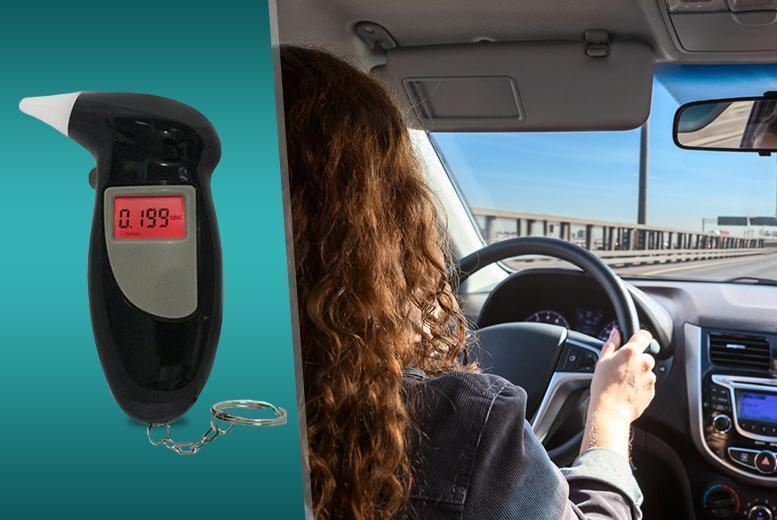 £7 instead of £24.99 (from Emyub) for a digital keyring breathalyser - save 72%