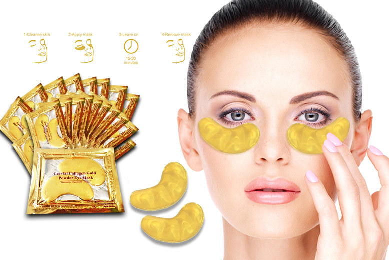 £2.99 instead of £38.01 (from Forever Cosmetics) for a set of 20 'crystal' gold collagen eye masks - treat your peepers and save 92%
