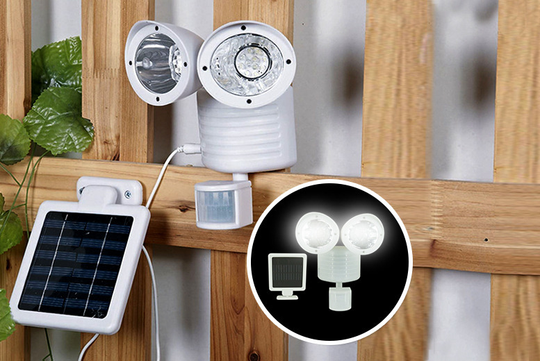 £14.99 instead of £45 (from Zoozio) for an LED motion sensor security light in your choice of black or white - save 67%