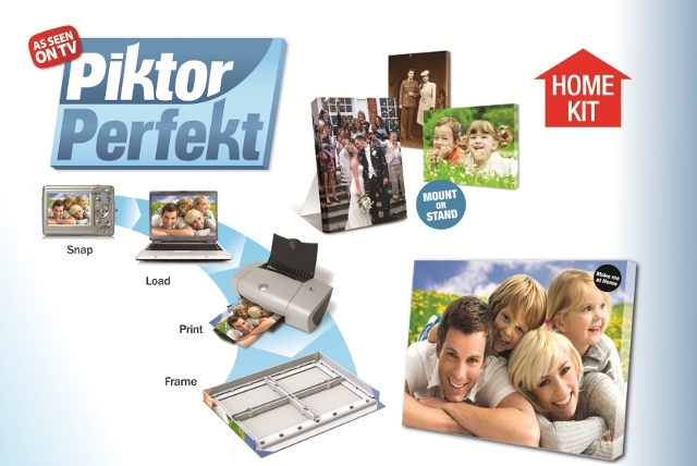 £15 for a Piktor Perfekt home photo canvas kit from Wowcher Stores – make your own A4 photo canvases in the comfort of your own home + Delivery is included!